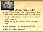point of view what is it