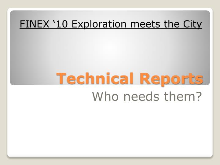 technical reports n.