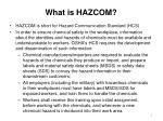 what is hazcom