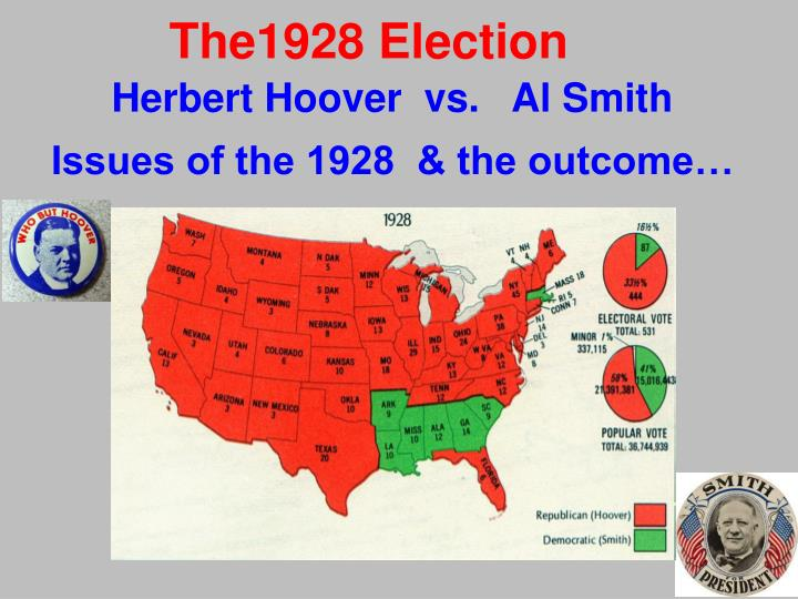 1928 american election In 1928 african americans again faced the prospect of a presidential election in which both contenders were hostile in both word and deed toward them.