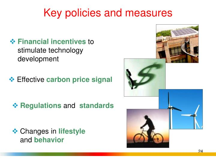 Key policies and measures