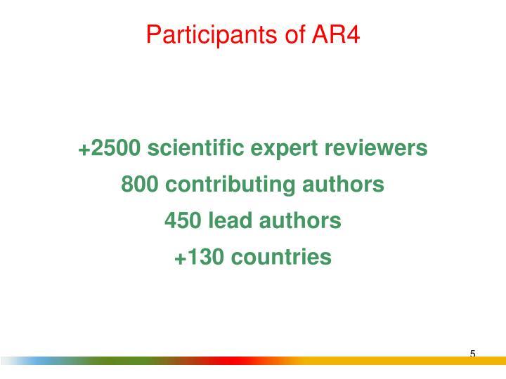 Participants of AR4