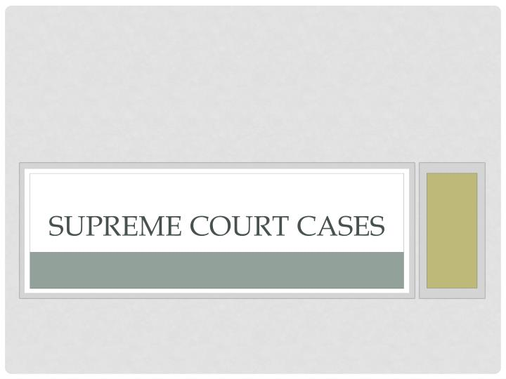 supreme court cases n.