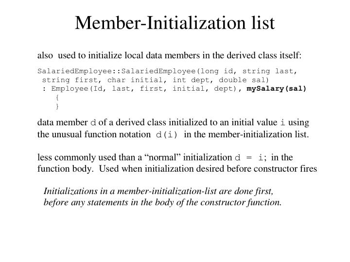 Member-Initialization list
