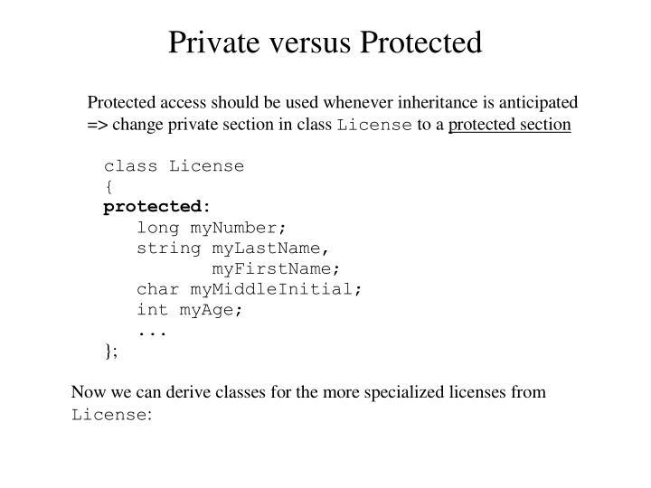 Private versus Protected