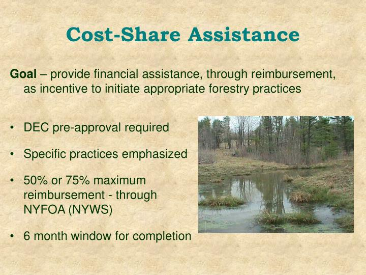 Cost-Share Assistance