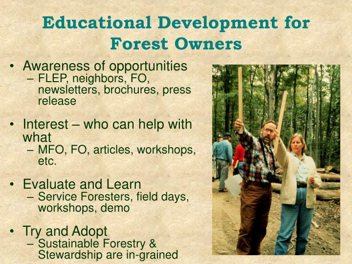 Educational Development for Forest Owners