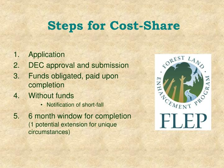 Steps for Cost-Share