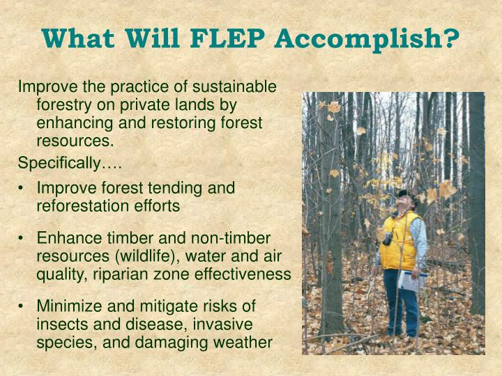 What Will FLEP Accomplish?