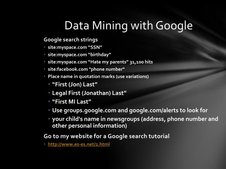 Data Mining with Google