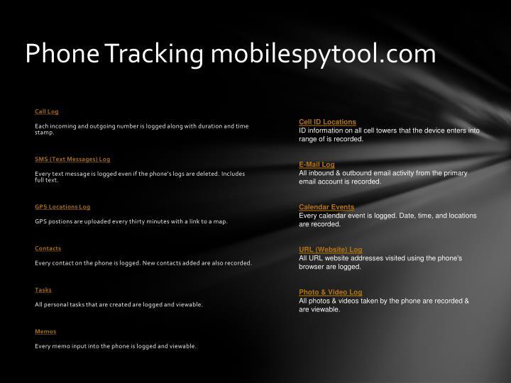 Phone Tracking mobilespytool.com