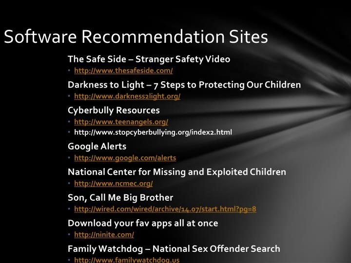 Software Recommendation Sites
