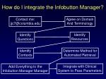how do i integrate the infobutton manager