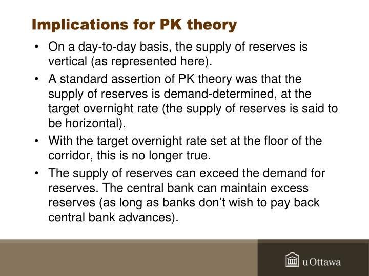 Implications for PK theory
