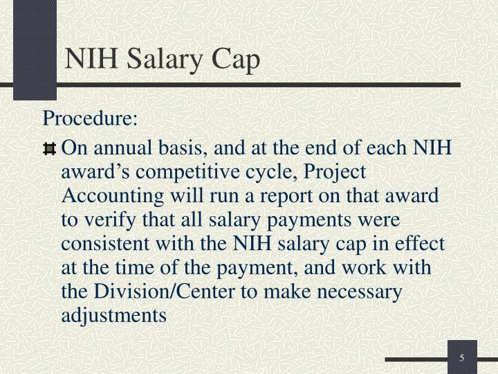 NIH Salary Cap