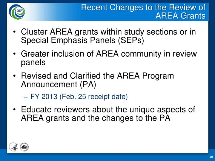 Recent Changes to the Review of