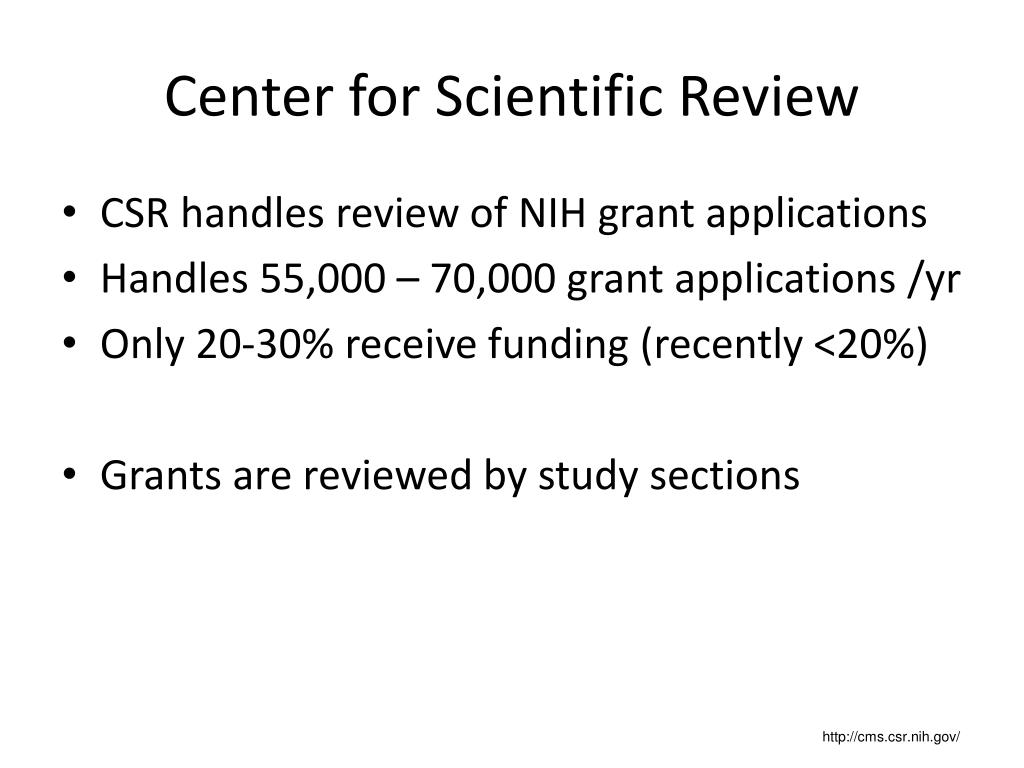 PPT - The NIH Grant Review Process PowerPoint Presentation ...