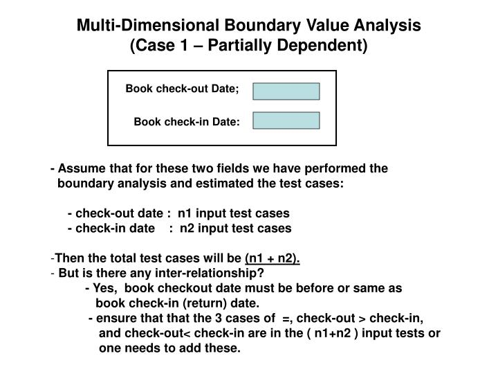 Multi-Dimensional Boundary Value Analysis