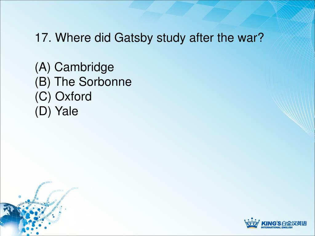 PPT - The Great Gatsby PowerPoint Presentation - ID:4678557