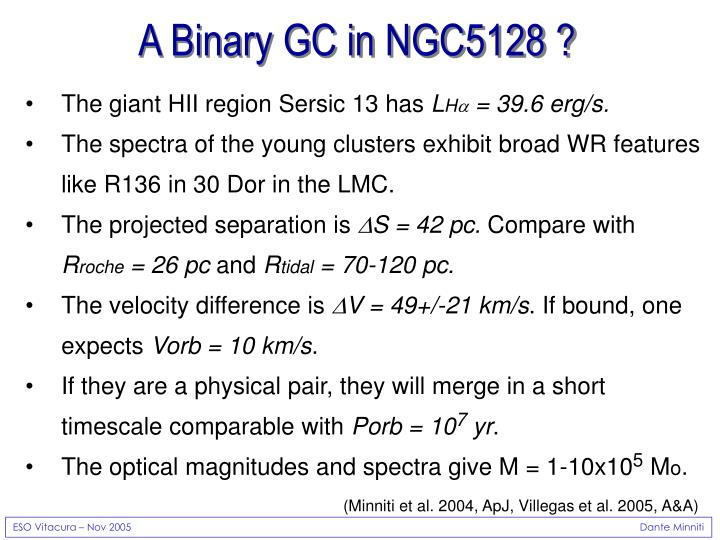 A Binary GC in NGC5128 ?