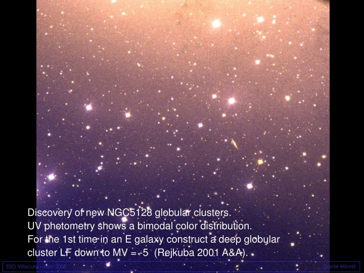 Discovery of new NGC5128 globular clusters.