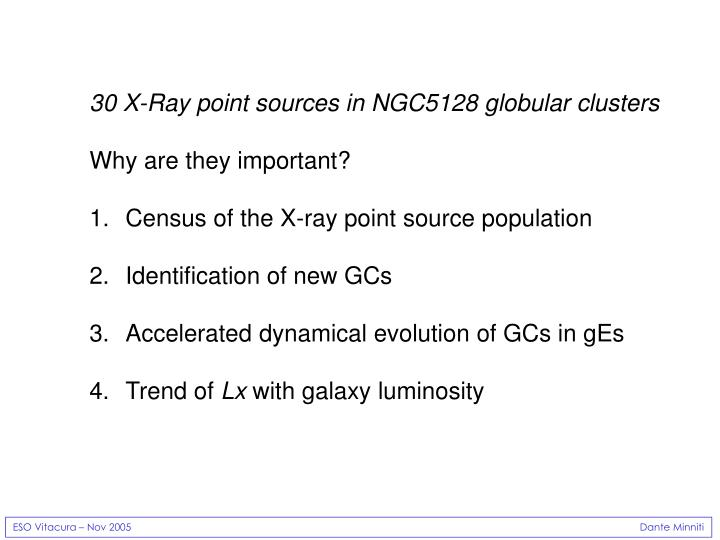 30 X-Ray point sources in NGC5128 globular clusters