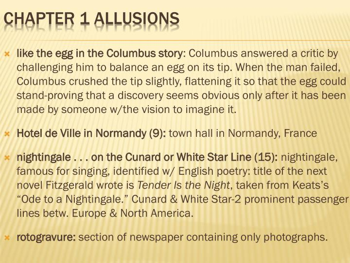 like the egg in the Columbus story