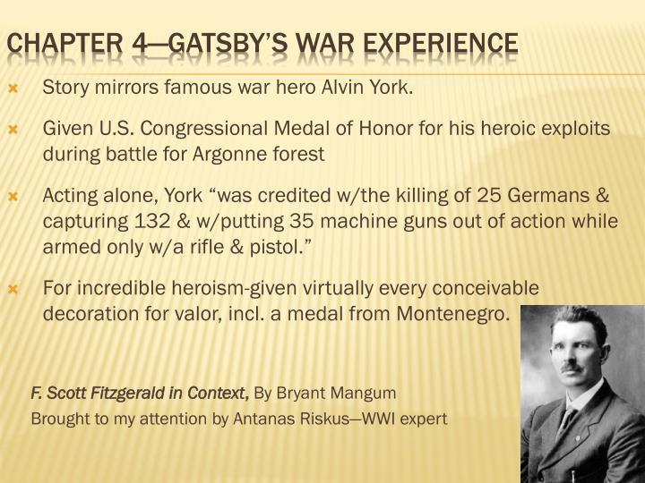 Story mirrors famous war hero Alvin York.