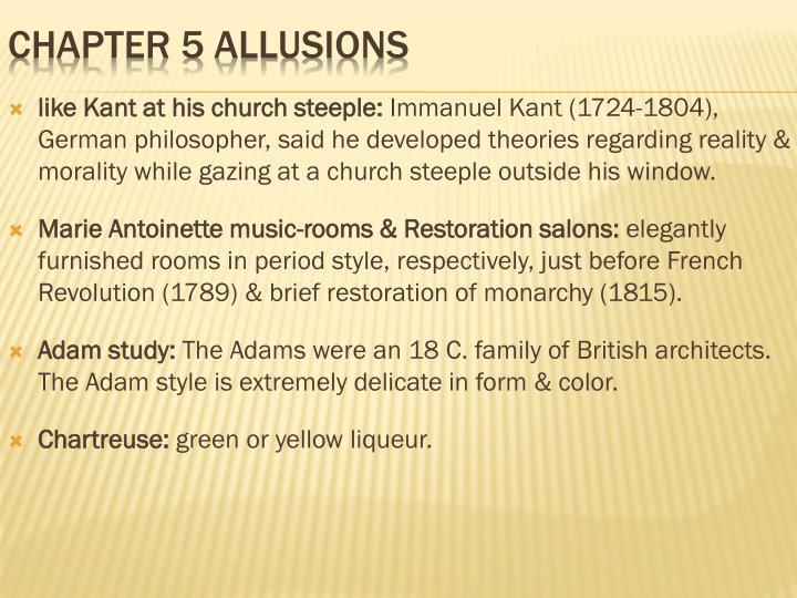 like Kant at his church steeple: