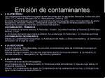emisi n de contaminantes