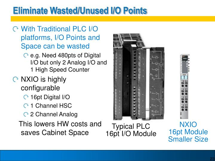 Eliminate Wasted/Unused I/O Points