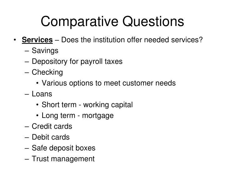 Comparative Questions