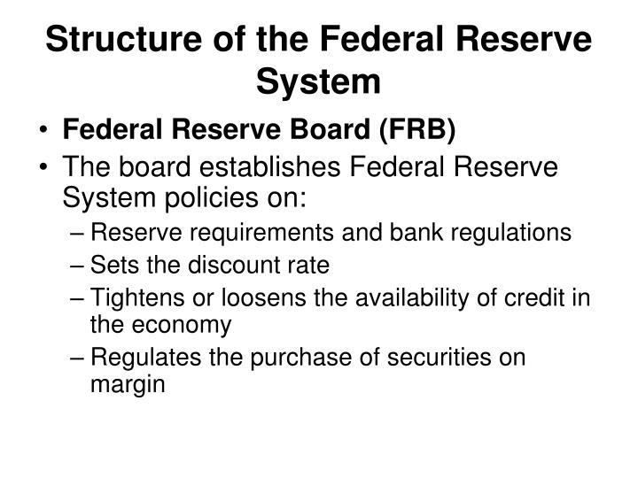 Structure of the Federal Reserve System