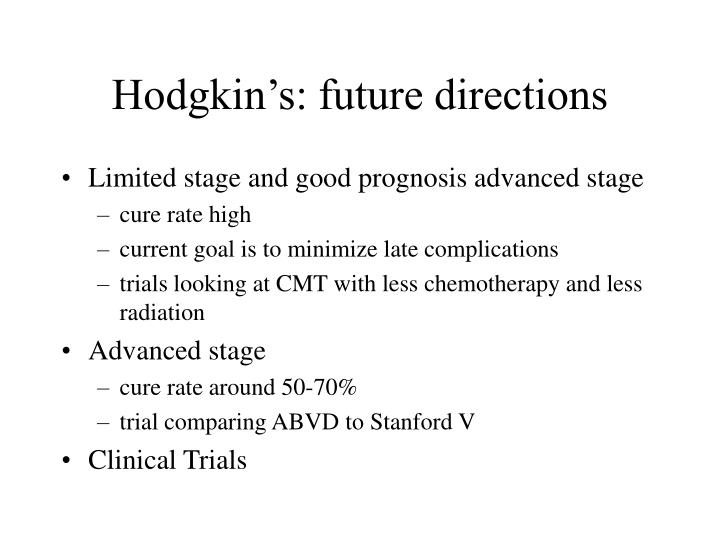 Hodgkin's: future directions