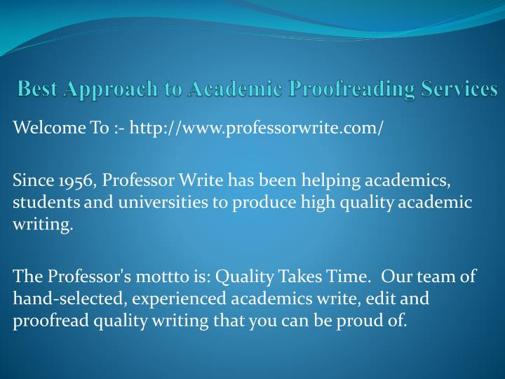 best approach to academic proofreading services n.