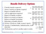 bundle delivery options