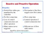 reactive and proactive operation