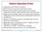 routers operation cont