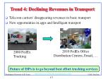 trend 4 declining revenues in transport