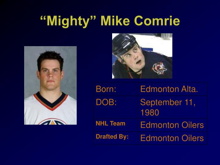 """""""Mighty"""" Mike Comrie"""