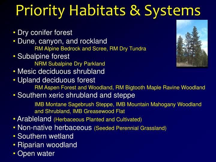 Priority Habitats & Systems