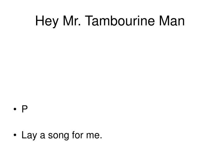 Hey Mr. Tambourine Man