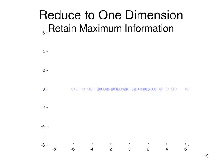Reduce to One Dimension