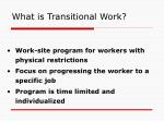 what is transitional work