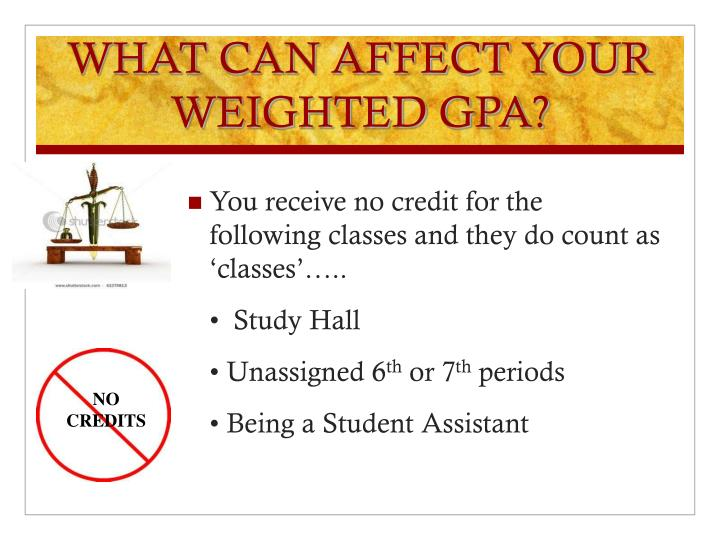 WHAT CAN AFFECT YOUR WEIGHTED GPA?