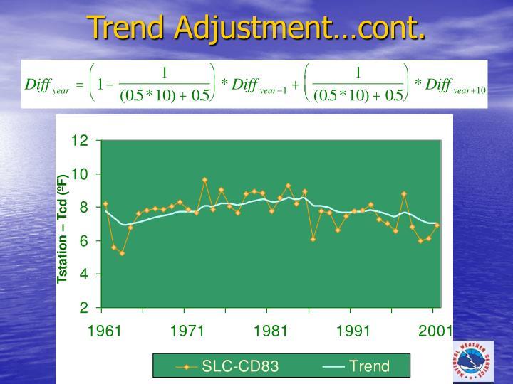 Trend Adjustment…cont.
