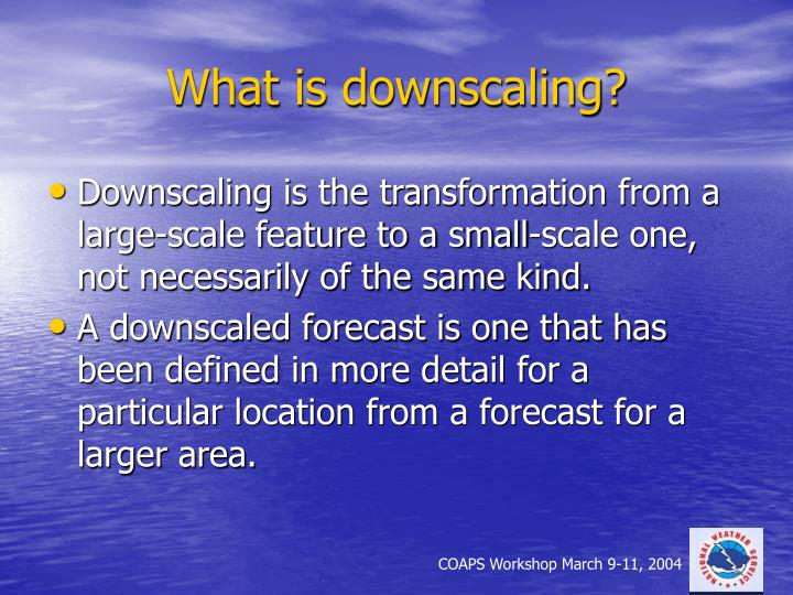What is downscaling
