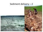 sediment delivery 2