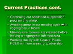 current practices cont