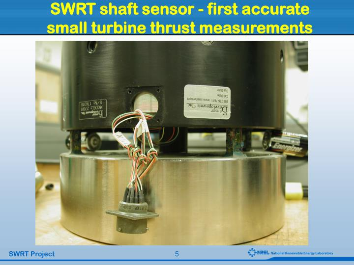 SWRT shaft sensor - first accurate small turbine thrust measurements